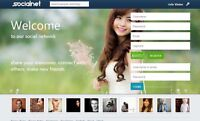 Social Network Website -  One Year Free cPanel Hosting + Complete Installation