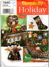 ©1997 UNCUT Simplicity Holiday Pattern Collection #7840 Christmas Decor Wreath +