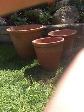 Vintage Hand Thrown Terracotta Plant Pots