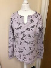 Weird Fish Long Sleeved Cotton Jumper in Lilac size 10