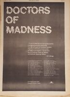 Doctors of Madness  tour 1975 press advert Full page 28 x 39 cm poster