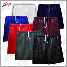 Mens Young Adults Boys Shadow Stripe School Uniform Shorts Gym PE Football »