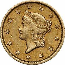 1851 Gold Dollar $1, Nice Original Coin, Circulated