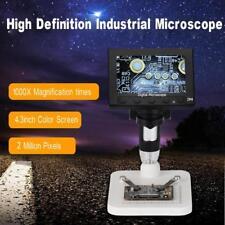 "8 LED 1000X Microscopio USB cámara digital vídeo endoscopio lupa de 4,3 ""LCD 2mp"