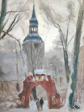 """Kliefert, Erich (1893-Berlin – 1994 Stralsund)  """"Winter an der Kirche in Semlow"""""""