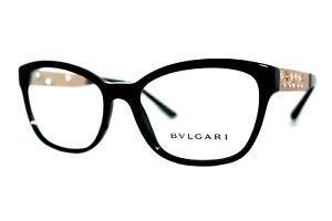 NEW BVLGARI 4153-B 501 BLACK AUTHENTIC EYEGLASSES WOMEN'S FRAMES 54MM W/CASE RX