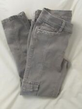 "Ladies ""White House Black Market"" Sz 4R (W31/L27.5) Gray Cargo, Slim Ankle Jeans"