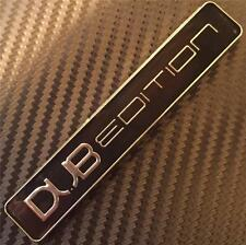 NEW BLACK DUB EDITION Car Badge NEW VW GOLF GTI TDI POLO LUPO PASSAT CADDY T4 5