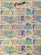 Nos 1970's Vintage Parade Gift Wrap Paper Baby Shower & Other Occasions