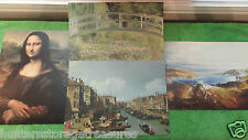 4 Reproduction Print by Masterpiece Plains of Heaven Mona Lisa Water-Lily Canal