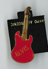 Elvis Presley pin - small red guitar - badge