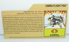 GI Joe File Card for Cobra Flight Pod 2008 25th Anniversary Series