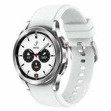 Samsung Galaxy Watch4 Classic SM-R880 42mm Stainless Steel Case with Ridge-Sport Band - Silver (Bluetooth) (SM-R880NZSAXAA)