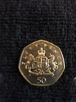 VERY RARE AND COLLECTABLE IRONSIDE 50P COIN GOOD CONDITION