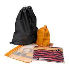 IKEA UPPTACKA 4 Organizer/da viaggio per i viaggi o palestra in Arancione & Grigio Nuovo