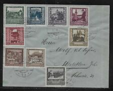 Austria B57-B65 on 1923 Cover