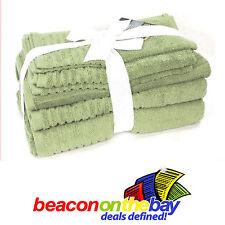 7 Piece Olive 100% Pure Indian Cotton Large Bath Towel Gift Set Indus Sands