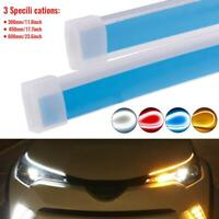 2 x 30/45/60cm Ultra Thin Car Soft Tube LED Strip Running Light Turn Signal Lamp