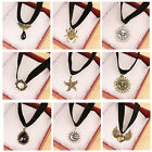Gothic Retro Vintage Lace Gem Pearl Pendant Collar Choker Necklace Jewelry ATAU