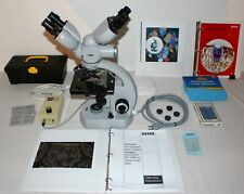 Zeiss Dual Head Standard 16 Microscope Rare Red Arrow Excellent Condition