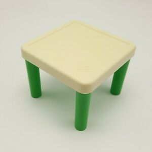 Little Tikes Kids Table Green Tan 5578 Kitchen Replacement Dollhouse Furniture
