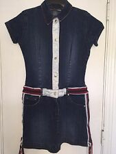 Neeso Women's Denim Jean Dress Jumper Short Sleeve Size M