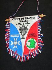 fanion wimpel pennant AJ AUXERRE NIMES OLYMPIQUE FINALE COUPE FRANCE 1996 XL
