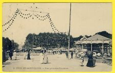 cpa 92 - FÊTE FORAINE de SAINT CLOUD en 1907 Attractions Manèges Carrousels