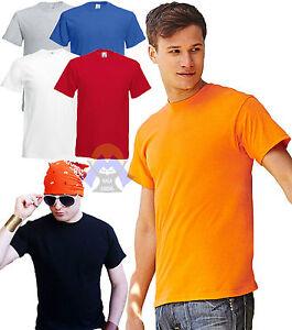 T-shirt Uomo FRUIT OF THE LOOM Maglia COLORATA Maglietta a Manica Corta SPORTIVA