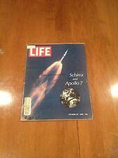 LIFE Magazine Schirra and Apollo 7 October 25 1968 Happy 40th Mickey Mouse