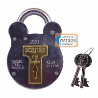 Squire 220 Old English Steel All Weather Padlock Gate Garage Shed Security Style