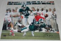 DARQUEZE DENNARD ISAIAH LEWIS SIGNED MSU MICHIGAN STATE SPARTANS 16x20 PHOTO COA