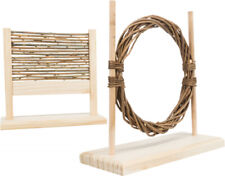 New From Trixie Small Rabbit Ferret Pet Rat Agility Set Fun Wooden Playground