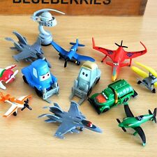Lot De 12pc Pixar Cars 2 & Plane Plastic Figurines Jouet Neuf Cute