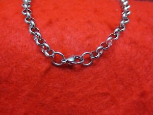 """30""""  STAINLESS STEEL SILVER 10MM CROSS LINK  ROLO ROPE WAIST BODY OR WRIST CHAIN"""