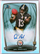 2014 Bowman Chrome Dri Archer Autograph Refractor RC Steelers