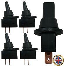 (4) Universal Splash Proof Boot Black Plastic On Off Toggle Switch 12V 20A SPST