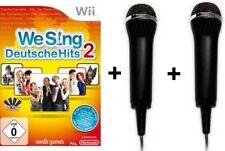 Nintendo Wii We Sing DEUTSCHE HITS 2 + 2 Micros Mikrofon BRANDNEU
