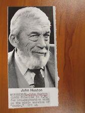 Vtg Wire AP Press Photo John Huston Irish Actor The Maltese Falcon, Misfits #6
