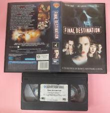 VHS Film FINAL DESTINATION Devon Sawa Ali Larter Kerr Smith WARNER (F158) no dvd