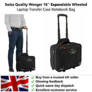 Wenger 16'' Expandable Wheeled Laptop Transfer Case Notebook Bag Swiss Quality