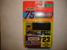MATCHBOX 1997 EDITION 75 CHALLENGE GOLD #23 VOLVO CONTAINER TRUCK FREE SHIP RARE