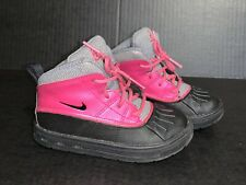 Nike Woodside 2 Acg Boots Toddlers Girls Waterproof Blk Pink 524877-600 Size 10C