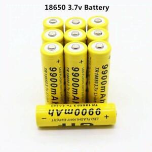 2-10pcs 9900mah 3 7v Lion Rechargeable For Power Bank Led Flashlight New 2020