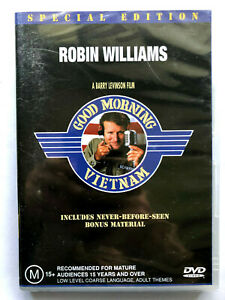 GOOD MORNING VIETNAM. ROBIN WILLIAMS. NEW AND SEALED. DVD