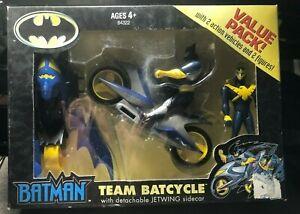 Batman Team Batcycle w Jetwing Sidecar Hasbro NEW 2001 DC