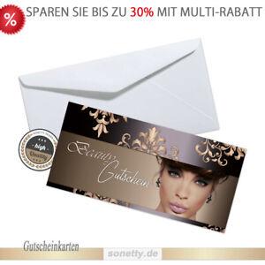 50 Gutscheinkarten Wellness Kosmetik Geschenkgutscheine Beauty Gutscheine #04