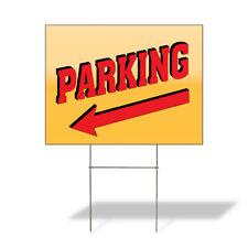 Weatherproof Yard Sign Parking Outdoor Advertising Printing H Yellow Lawn Garden