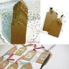 100pcs Kraft Paper Gift Tags Wedding Birthday Scallop Label Blank Luggage Card