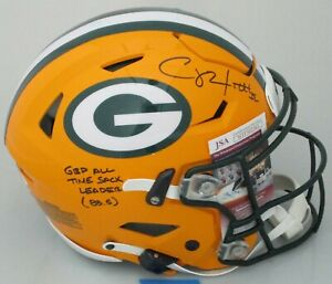 Packers CLAY MATTHEWS Signed Full Size Authen Speed Flex Helmet AUTO w/ SCRIPT